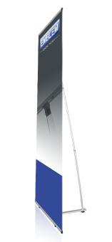 EMBLEM Easy L-Banner Leicht-Display 80 cm x200 cm Gewicht ca.1,4 kg.