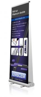 EMBLEM EASY Roll-Up Platinum double 80 cm x80-230 cm Gewicht ca. 3,5 kg