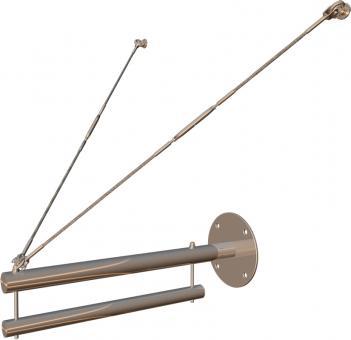 Wandmontage Seilspannsystem 600mm Planenbreite für Bannerhalter-Set (Fahne)
