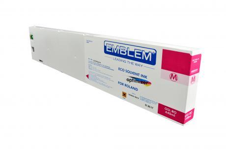 """EMBLEM Professional Ink """"optimizer"""" Magenta Optimizer Solvent Ink for Roland 440ml"""