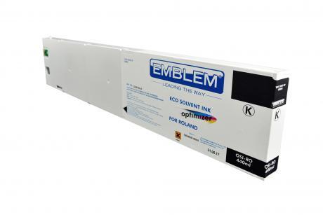 """EMBLEM Professional Ink """"optimizer"""" Black Optimizer Solvent Ink for Roland 440ml"""