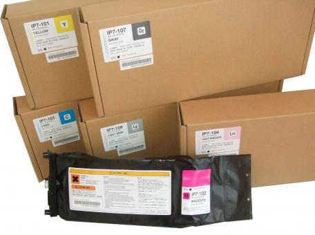 IP7-104 OKI Solvent.Tinte für Colorpainter H-Serie Tintenpack 1500 ml  black