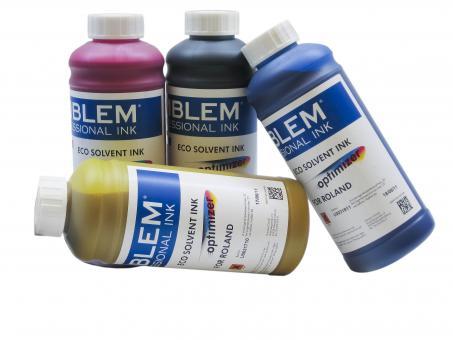 """EMBLEM Professional Ink """"optimizer"""" Light Cyan Optimizer Solvent Ink für Roland 1 Liter"""