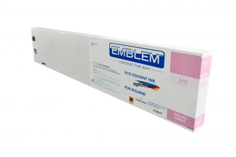 """EMBLEM Professional Ink """"optimizer"""" Light Magenta Optimizer Solvent Ink for Roland 440ml"""