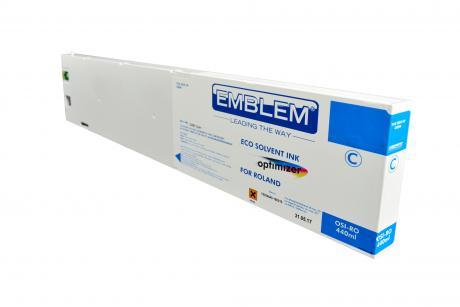 """EMBLEM Professional Ink """"optimizer"""" Cyan Optimizer Solvent Ink for Roland 440ml"""