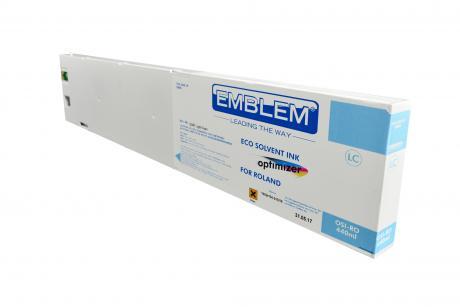 """EMBLEM Professional Ink """"optimizer"""" Light Cyan Optimizer Solvent Ink for Roland 440ml"""