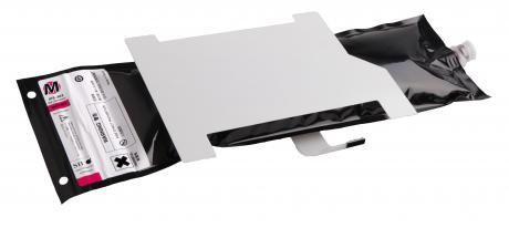 IP5-451 OKI-Solvent-Tinte für Colorpainter W-Serie Tintenbeutel a 500ml,  Neon Yellow