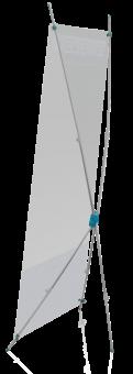 EMBLEM Easy X Banner stretch-display 60x80x120x180 cm weight app.1 kg.