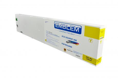 "EMBLEM Professional Ink ""optimizer"" Yellow Optimizer Solvent Ink for Roland 440ml"