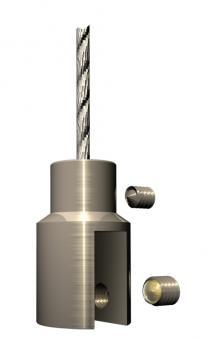Deckenhänger D 14/3-6  VP 1 Stück Verbindung Drahtseil>Schild ohne Bohrung Edelstahl