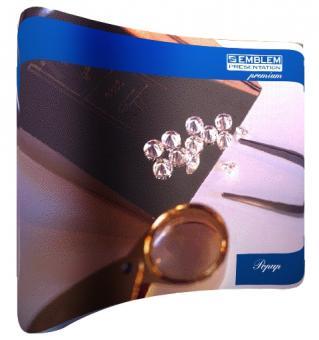 EMBLEM EASY Pop Up Premium 3x3 Felder Maße250x225 cm Gewicht ca.16 kg