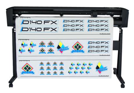 SummaCUT D-140RLFX-2E, Schneideplotter incl. Stand, mit OPOS-X, Schneidebreite 1350 mm